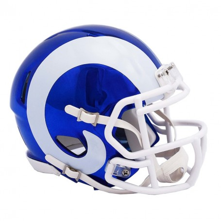 Los Angeles Rams Chrome Mini Speed Replica Helmet